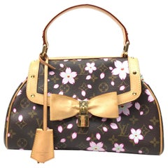 Louis Vuitton/Takashi Murakami Top Handle Tote w/ floral & monogram pattern