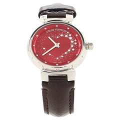Louis Vuitton Tambour Attraction Quartz Watch Stainless Steel and Leather 27