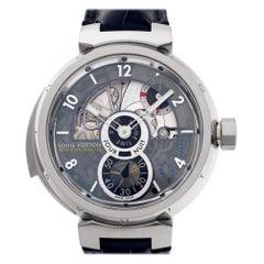 Louis Vuitton Tambour LV 40 18 Karat White Gold Manual Watch