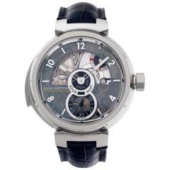 Louis Vuitton Tambour LV 40 18k White Gold Manual Watch