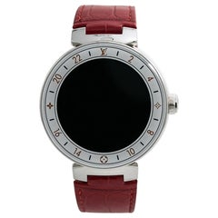 Louis Vuitton Tambour No-Ref, White Dial, Certified and Warranty
