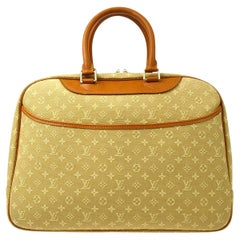 Louis Vuitton Tan Cognac Leather Travel Weekend Top Handle Carry On Bag
