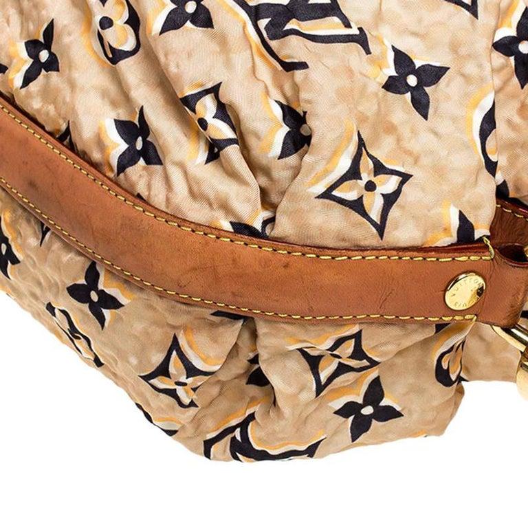 Louis Vuitton Tan Monogram Nylon Limited Edition Bulles MM Bag For Sale 6