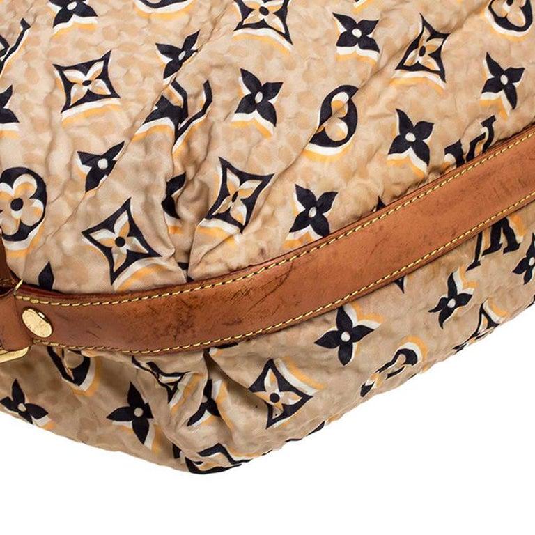 Women's Louis Vuitton Tan Monogram Nylon Limited Edition Bulles MM Bag For Sale