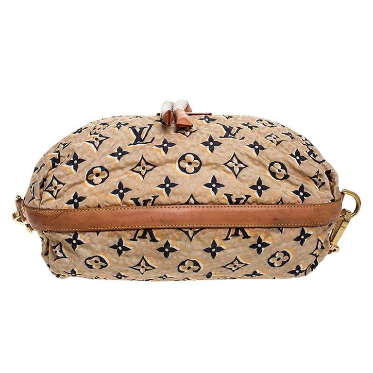 Louis Vuitton Tan Monogram Nylon Limited Edition Bulles MM Bag For Sale 1