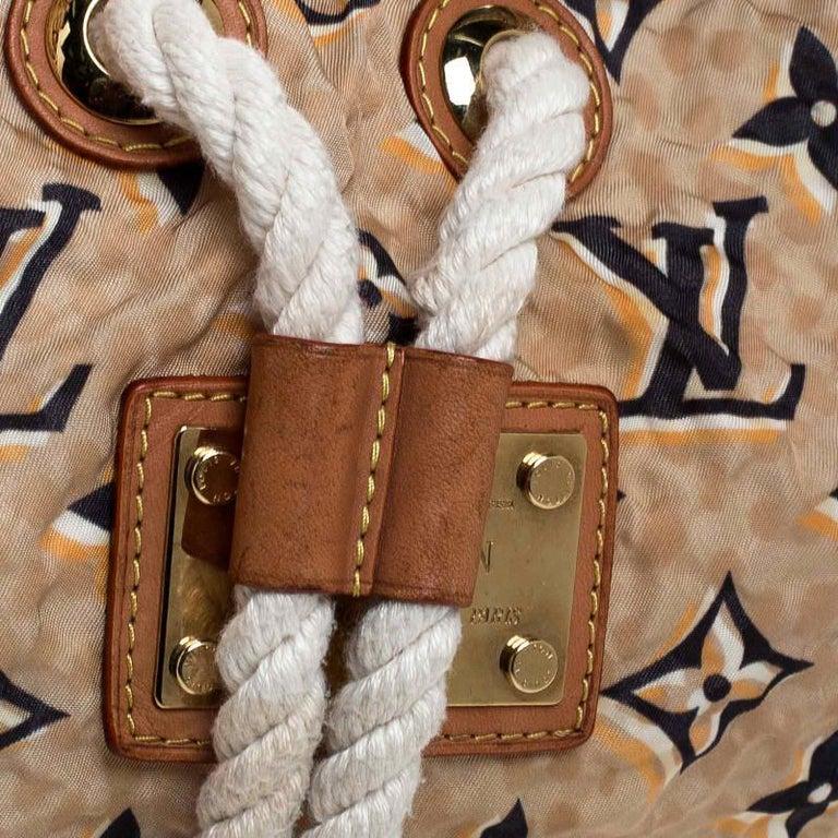 Louis Vuitton Tan Monogram Nylon Limited Edition Bulles MM Bag For Sale 2