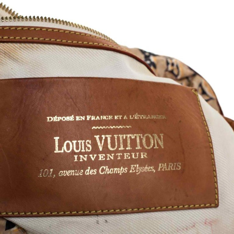 Louis Vuitton Tan Monogram Nylon Limited Edition Bulles MM Bag For Sale 3