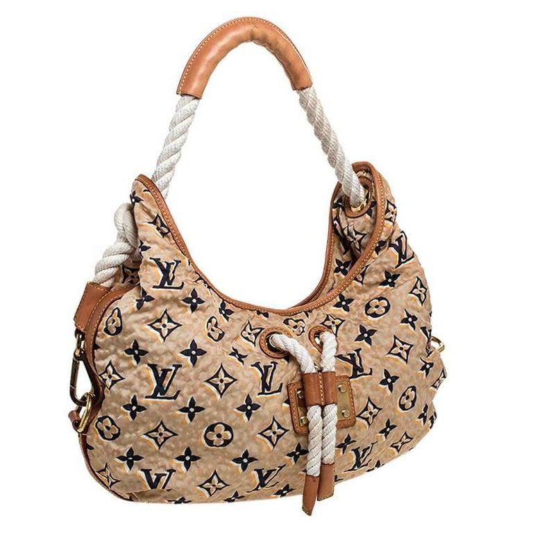 Louis Vuitton Tan Monogram Nylon Limited Edition Bulles MM Bag For Sale 4