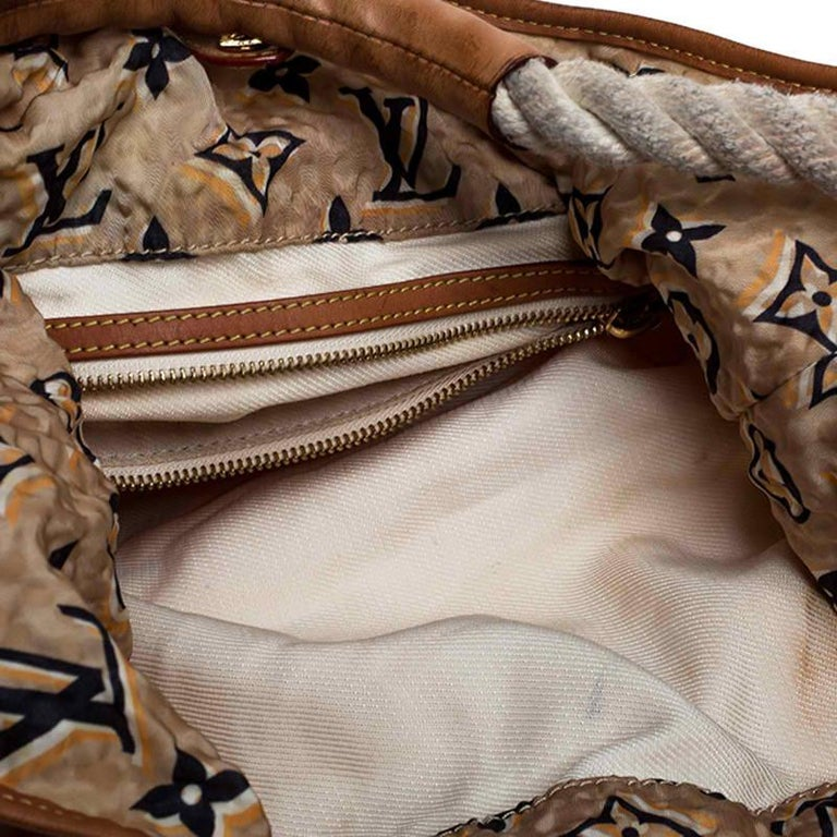Louis Vuitton Tan Monogram Nylon Limited Edition Bulles MM Bag For Sale 5