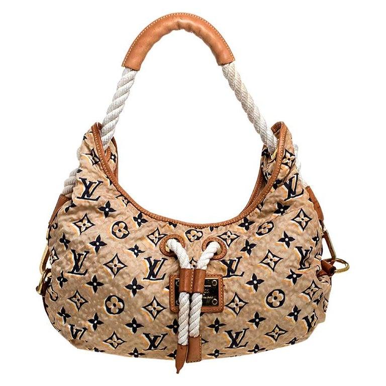 Louis Vuitton Tan Monogram Nylon Limited Edition Bulles MM Bag For Sale
