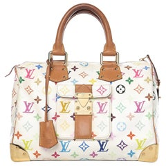 LOUIS VUITTON Tashiki Murakami Speedy white 30 Multi color Runway