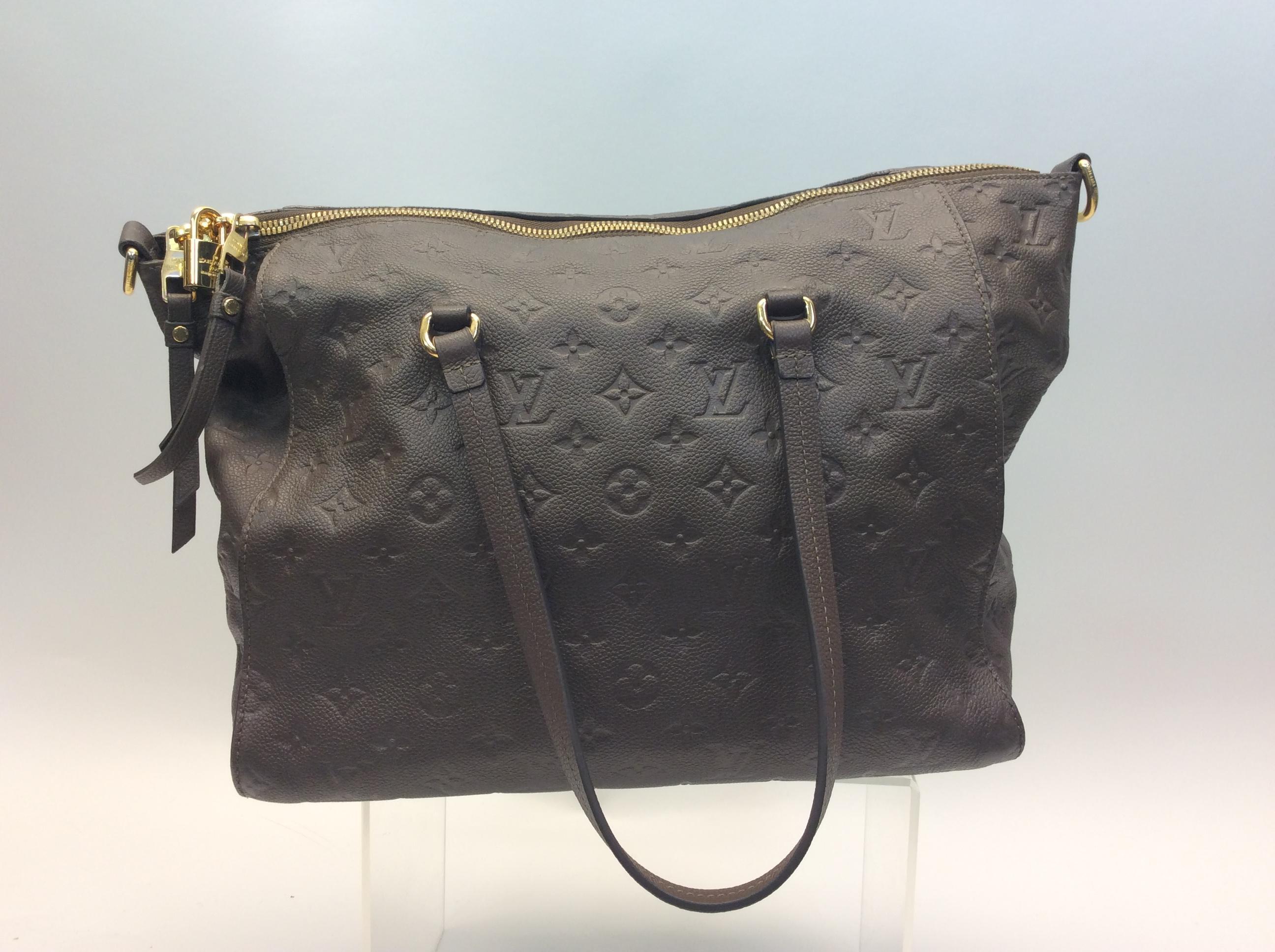 73239dec43 Louis Vuitton Taupe Monogram Embossed Leather Tote
