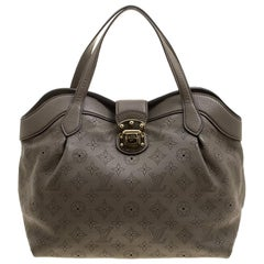Louis Vuitton Taupe Monogram Mahina Leather Cirrus PM Bag