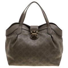 Louis Vuitton Taupe Monogram Mahina Leather Cirrus PM Bag