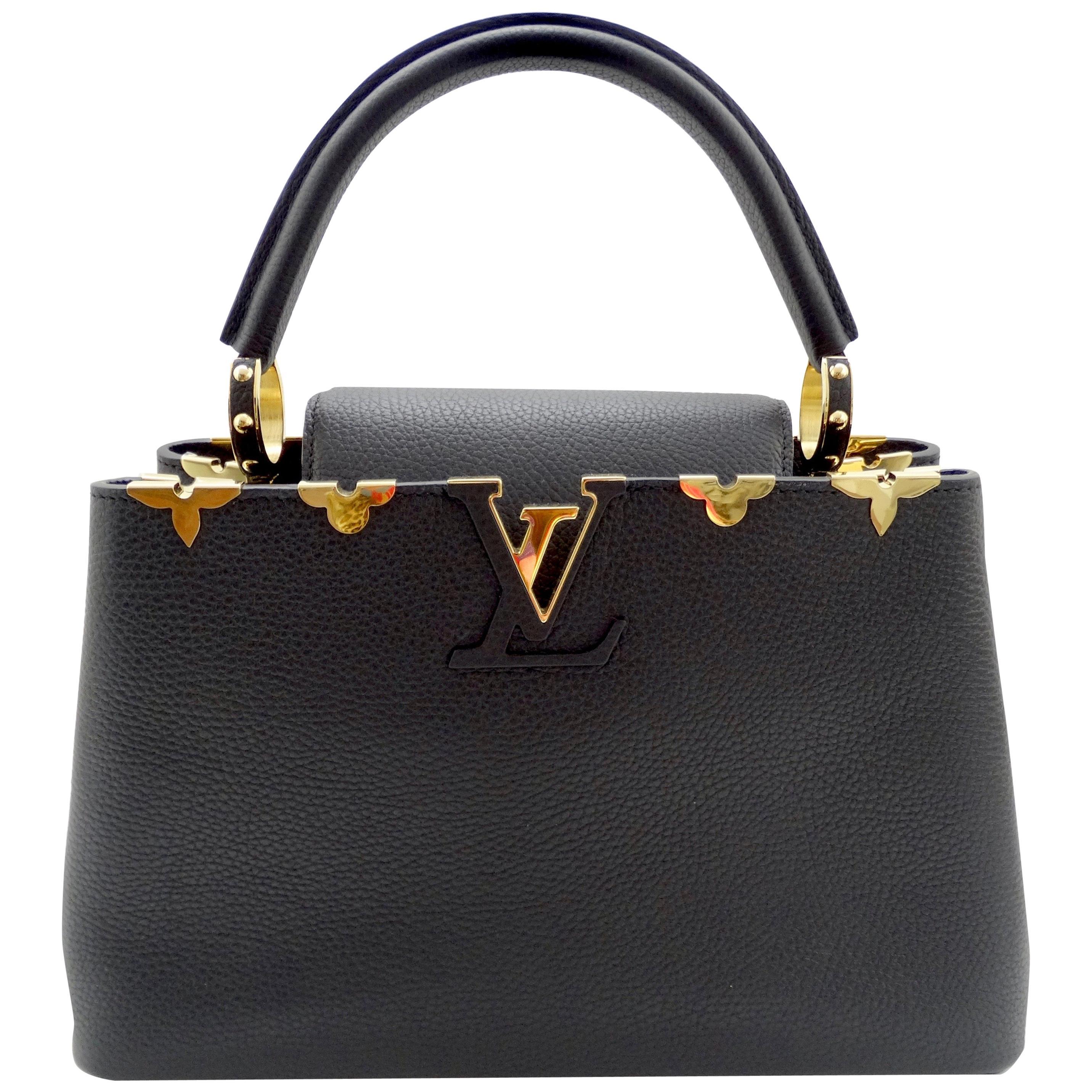 Louis Vuitton Taurillon Capucines PM w/ Bandouliere Handbag
