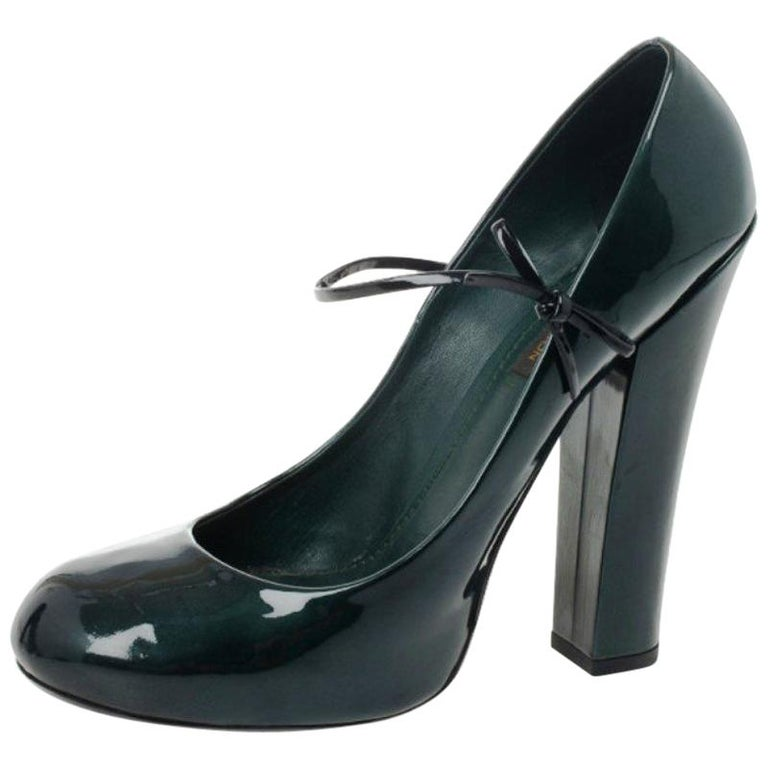 b7830026c0bc Louis Vuitton Teal Patent Fetish Mary Jane Pumps Size 40 For Sale at ...
