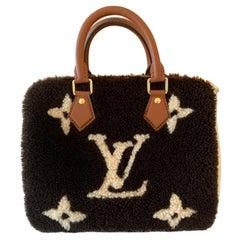Louis Vuitton Teddy Monogram Shearling Speedy 25 Bandouliere Bag