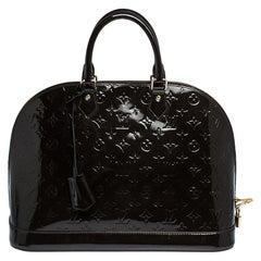 Louis Vuitton Terre D'Ombre Monogram Vernis Alma GM Bag