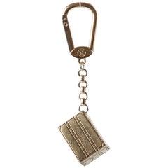 Louis Vuitton Textured Trunk Motif Gold Tone Keychain / Bag Charm