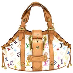 LOUIS VUITTON Theda PM Monogram Multicolor And  White Hand Bag , Limited Edition