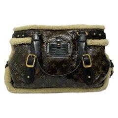 Louis Vuitton Thunder Shearling LE Handbag in Shiny Monogram Leather & Sheepskin