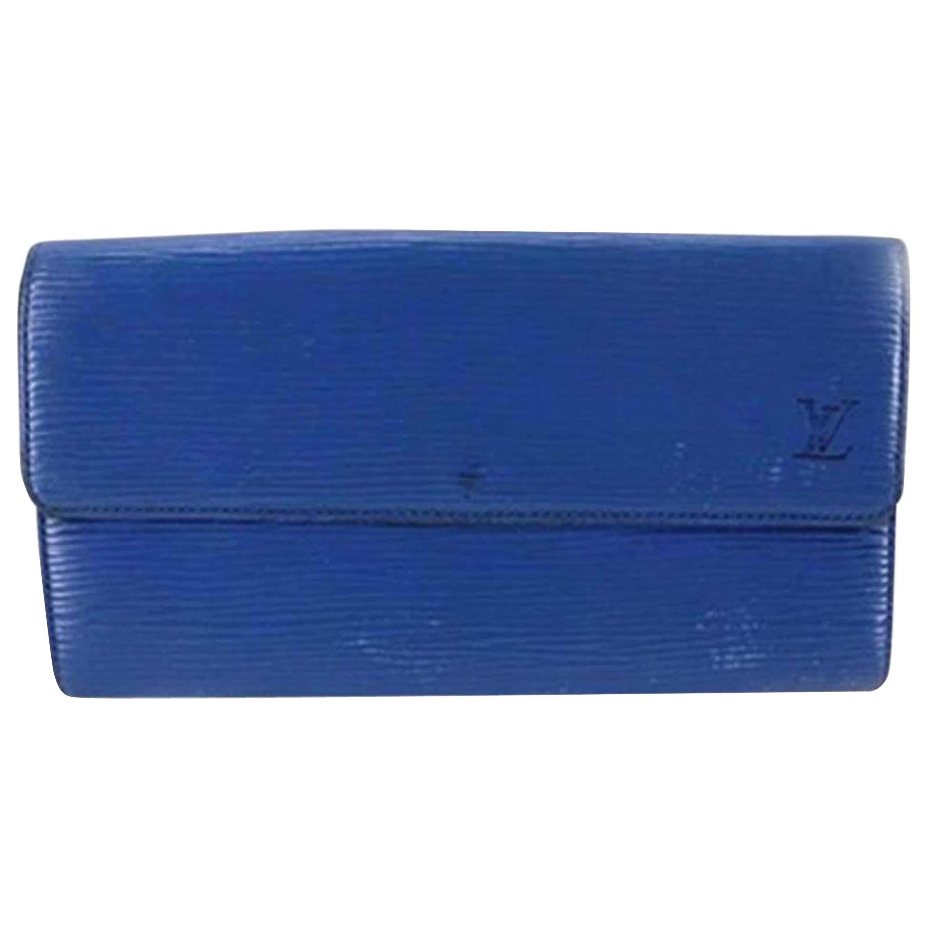 d79b3c98671f Louis Vuitton Blue Epi Key Pouch in Box with Dust Bag at 1stdibs