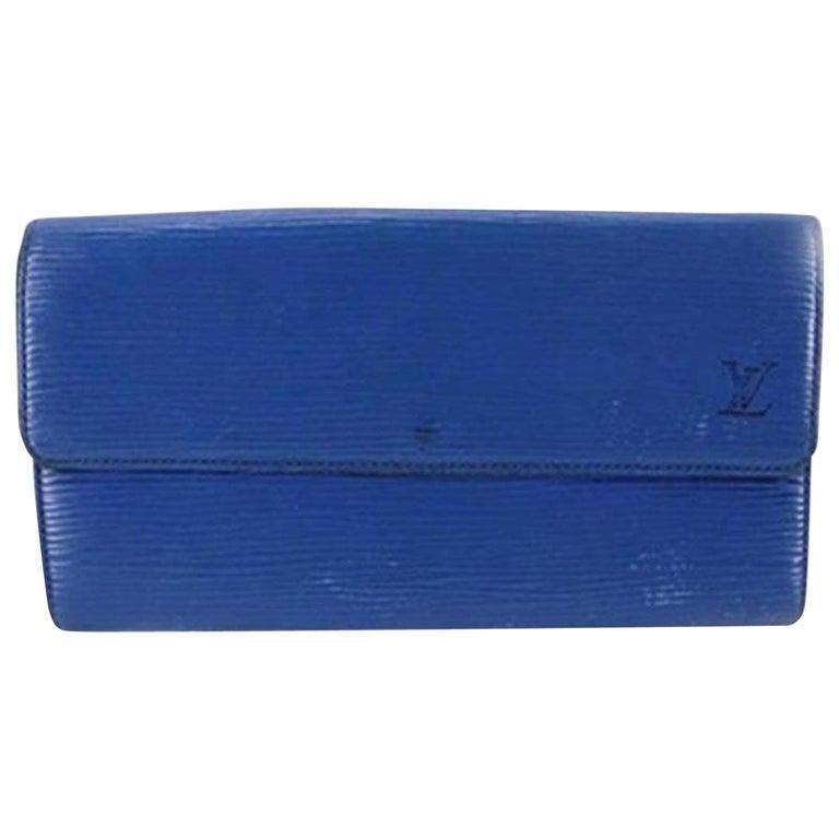 1907e64e83f4 Louis Vuitton Toledo Blue Epi Leather Sarah 202004 Wallet For Sale ...