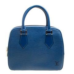 Louis Vuitton Toledo Blue Leather Sablons Bag
