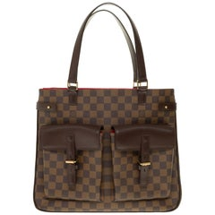 Louis Vuitton Tote in brown checkered canvas and brown leather