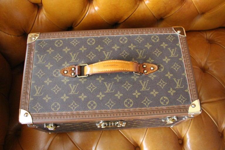 French Louis Vuitton Train Case, Louis Vuitton Jewelry Case, Louis Vuitton Beauty Case For Sale