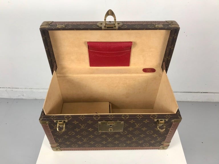 Brass Louis Vuitton Train Case, Vuitton Boite Pharmacie, Cosmetic Case 1010670, Paris For Sale