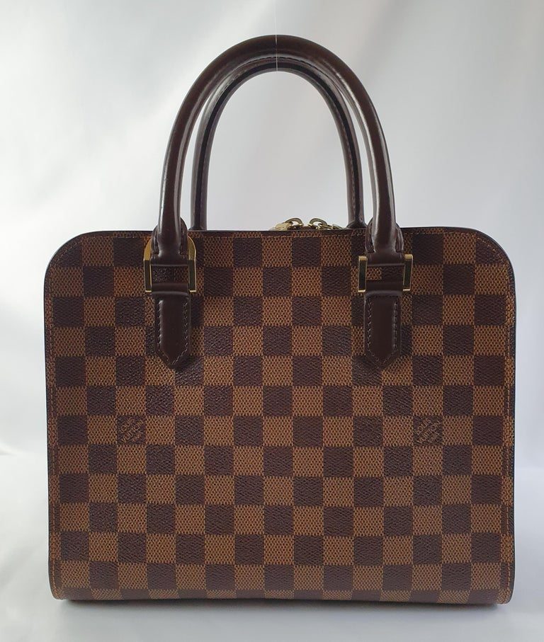 Brown Louis Vuitton, Triana in brown canvas For Sale