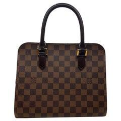 Louis Vuitton Triana Top Handle Handbag in Brown Damier Ebene, France 2000.