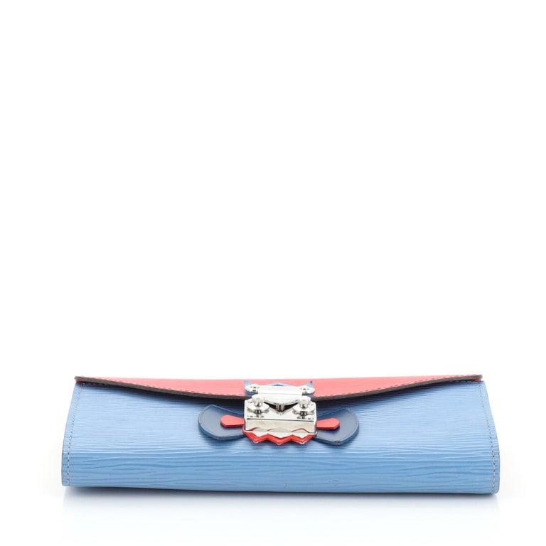 Women's or Men's Louis Vuitton Tribal Mask Sarah Wallet Epi Leather For Sale