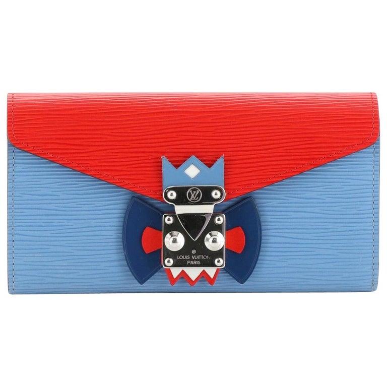 Louis Vuitton Tribal Mask Sarah Wallet Epi Leather For Sale
