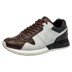 Louis Vuitton Tricolor Monogram Coated Canvas Run Away Sneakers Size 39.5