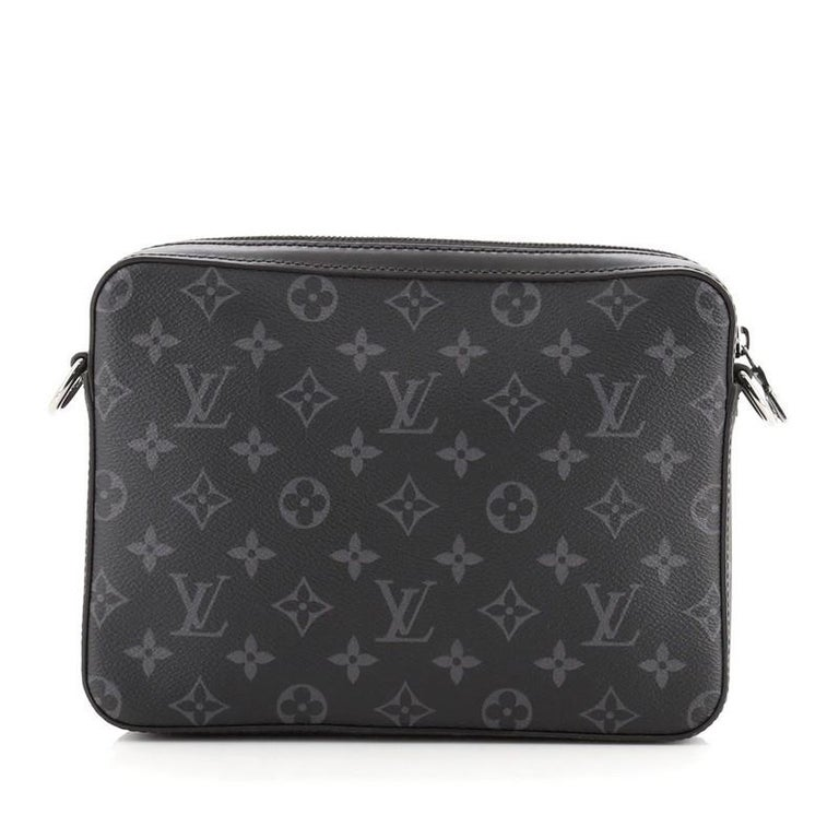 Louis Vuitton Trio Messenger Bag Monogram Eclipse and Reverse Monogram Eclipse In Good Condition For Sale In New York, NY