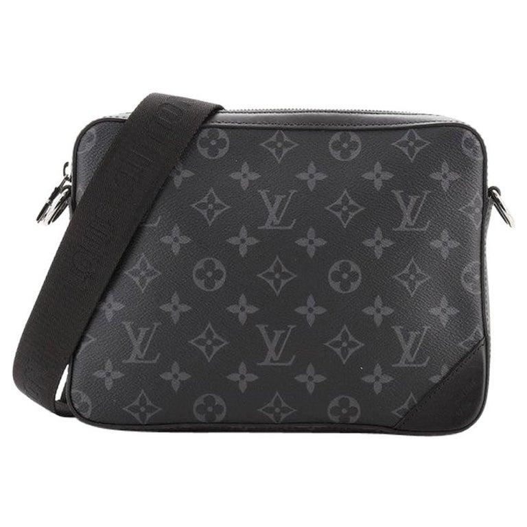 Louis Vuitton Trio Messenger Bag Monogram Eclipse and Reverse Monogram Eclipse For Sale