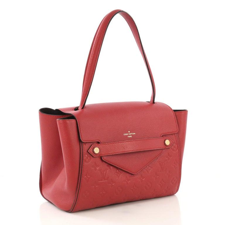 Red Louis Vuitton Trocadero Handbag Monogram Empreinte Leather, For Sale