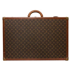 LOUIS VUITTON Trunk / Hard Case In Brown Canvas: