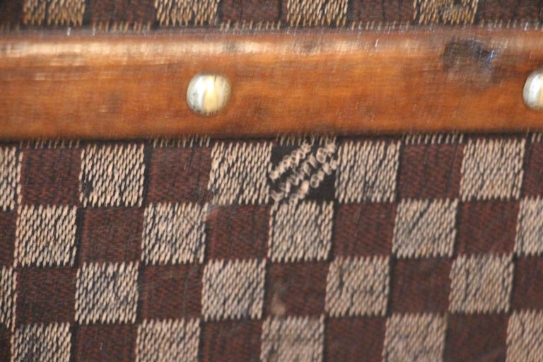 Louis Vuitton Trunk in Checkered Pattern, Damier Louis Vuitton Steamer Trunk For Sale 6
