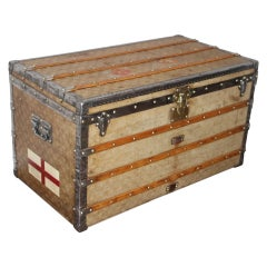 Louis Vuitton Trunk in Woven Canvas, Louis Vuitton Courier Trunk