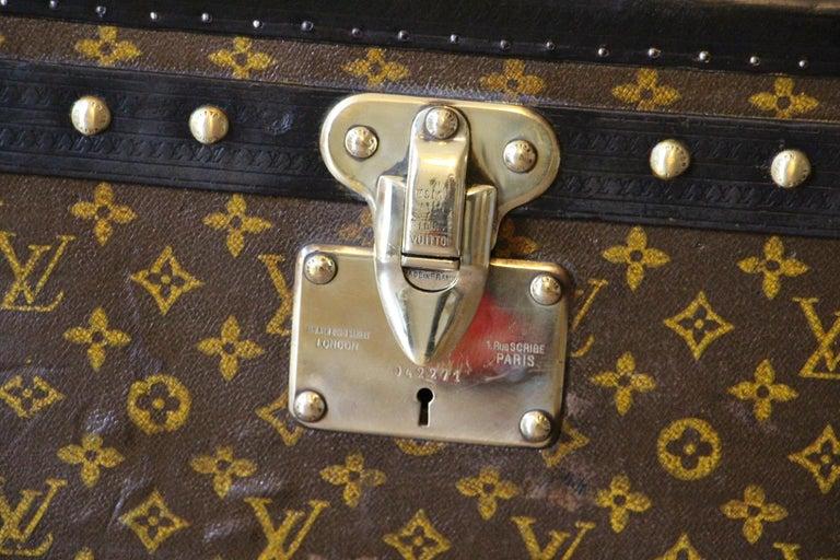 French Louis Vuitton Trunk, Louis Vuitton Hat Trunk, Louis Vuitton Steamer Trunk For Sale