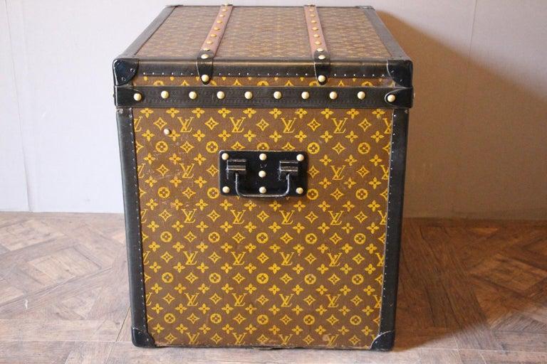 Brass Louis Vuitton Trunk, Louis Vuitton Hat Trunk, Louis Vuitton Steamer Trunk For Sale