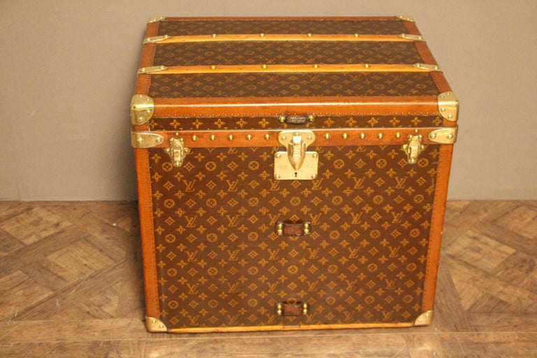 Very rare Louis Vuitton trunk in the very sought after shape.