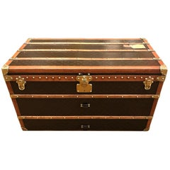 Louis Vuitton trunk, LV, Made in France, 1930s