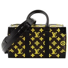 Louis Vuitton Trunk Speedy Monogram Tuffetage Canvas