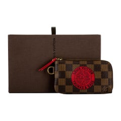 Louis Vuitton Trunks Damier Keychain Pouchette with Box
