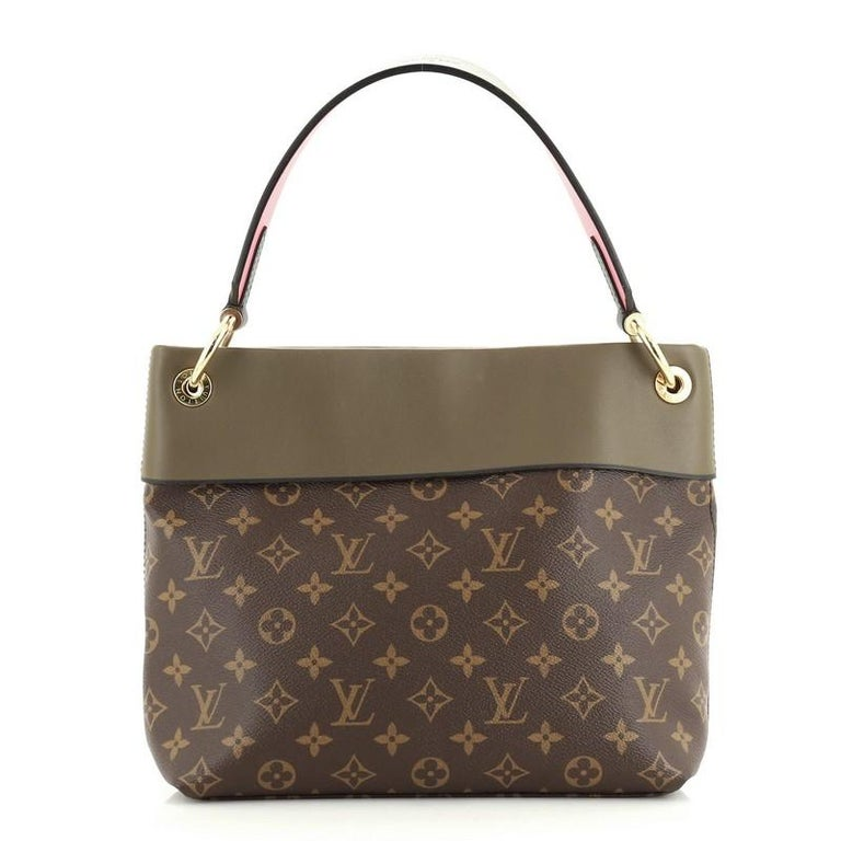 Brown Louis Vuitton Tuileries Besace Bag Monogram Canvas with Leather For Sale