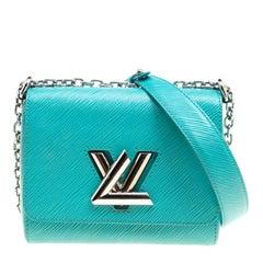 Louis Vuitton Turquoise Epi Leather Twist PM Bag